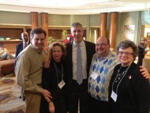 @AlabamaASCD Board Members  with Sec. of Education Arne Duncan @ASCD #LILA14 (L to R: Donald Turner, Jane Cobia, Sec. Duncan, Patrick Chappell, Mitchie Neel)