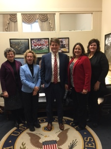 Alabama ASCD meets with aid to Representative Bradley Byrne during #LILA17