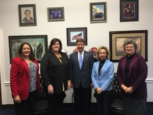 Alabama ASCD meets with Representative Michael Rogers during #LILA17